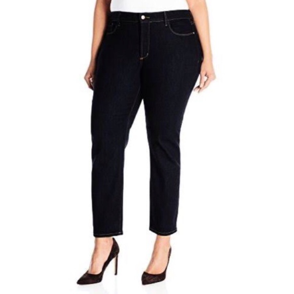 bc0d2790b7ce8 NYDJ Ira Relaxed Stretch Ankle BLACK Pants Sz 20W